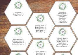Hexagon Seating Chart Alphabetical Seating Chart Template Hexagon Wedding Seating Chart Greenery Wreath Download Printable Editable Online