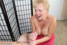 Old women stroking cocks