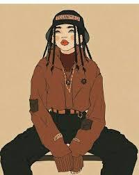 Cartoon Swag Girl