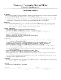 Pastor Resume Templates New Youth Minister Resume Pastor Resume Template Youth Ministry Resume