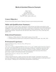 Examples Of Medical Resumes Stunning Medical Assistant Resumes Examples Socialumco