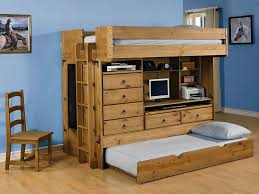 bunk bed with desk dresser and trundle