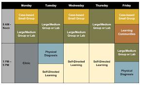 weekly schedule example course descriptions curriculum vanderbilt university