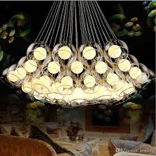modern art glass chandelier led pendant light for living room bar ac85 265v g4 bulb hanging glass pendant lamp fixtures bar chandelier glass chandeliers