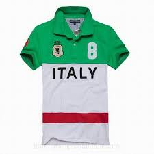 nwt tommy hilfiger mens short polo shirt italy custom polo green white red