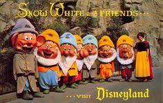 disneyland postcard snow white and the seven dwarfs d 4 108253