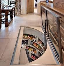 Spiral Cellar under the kitchen floor