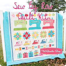 Quilt Kits - Exclusively Designed Quilting Kits | Fat Quarter Shop & Sew By Row Quilt Kit Lori Holt for Imagine with Riley Blake Designs Adamdwight.com