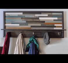Reclaimed Wood Coat Rack Shelf 100 Slick Handmade Reclaimed Wood DIY Projects That You'll Do Right Away 99