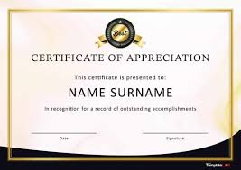 30 Free Certificate Of Appreciation Templates And Letters