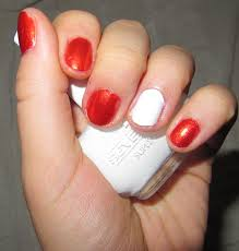 Red And White Nail Designs Red Nail Design Furry Fury Nail Art