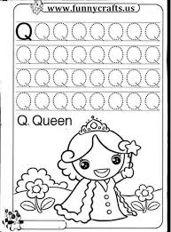 letter Q writing practice worksheets