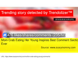 Mom Crab Eating Her Young Inspires Best Comment Section, Ever