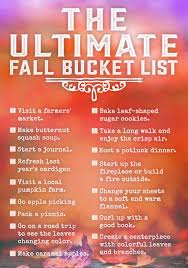 The Ultimate Bucket List for Fall | Buckets, Activities and Free