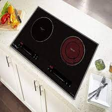 Bếp điện từ 2 lò âm Eurosun EU-TE728Pro Tặng hút mùi nồi từ   Bếp điện từ