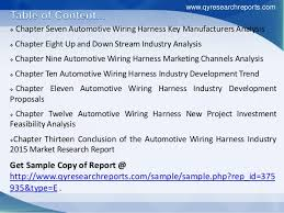 global automotive wiring harness market growth size share research 5 iuml129para chapter seven automotive wiring harness key manufacturers