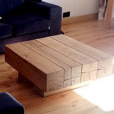 oak beam coffee table 4 beam top