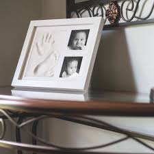 baby hand footprint photo frame package