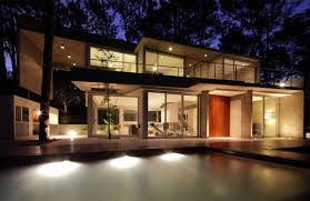modern house lighting. Fresno House Carilo Argentina Evening Lighting On Modern Lights D