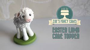 Cake Decorating Animal Figures Fondant Lamb Cake Topper How To Make A Lamb Figure Cute Animal