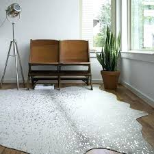 stone silver faux cowhide rug x 8 on with regard to cow hide re
