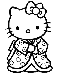 Disegni Da Stampare E Colorare Con Disegno Di Hello Kitty Da