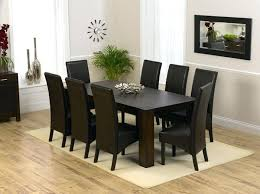 Dining Room Table Sets Leather Chairs Collection Custom Decorating Ideas