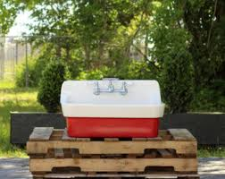 30 antique inspired high back farm sink cast iron