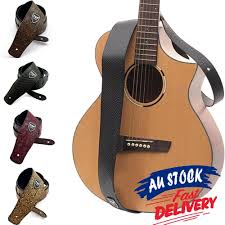 soft acoustic guitar strap electric au pu leather basses luxury classic