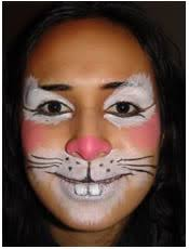 rabbit face painting i don t love this but i like the idea