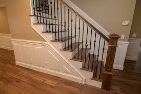 open tread stairs. Delighful Stairs Wrought Iron Open Wood Tread Stairs Traditional Intended