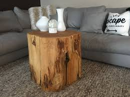 perfect side table log side tables stump table like ellen rustic coffee u2026