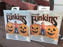 Outdoor Plastic Light Up Pumpkins Pumpkin Funkins Halloween Yard Decor Pumpkin Garden