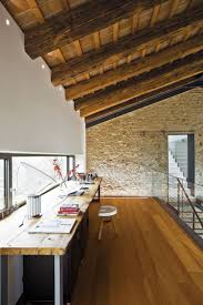 luxury inviting office design modern home. A Very Long Desk For Home Office. Top Of Made Reclaimed Wood With Metal Legs. Luxury Inviting Office Design Modern H