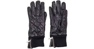 Lyst - Maison scotch Leather Quilted Gloves in Black &  Adamdwight.com