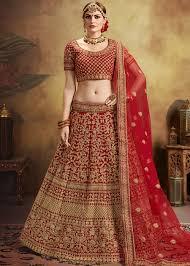 Bridal Lehenga Choli Designs With Price Red Embroidered Bridal Lehenga Choli