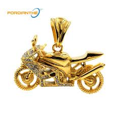 fashion gold mens motorcycles jewelry making charms pendant silver men women stainless steel 36 l crystal