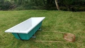 picture of wood fired outdoor bath