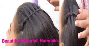Hairstyle Waterfall beautiful waterfall hairstyle step by step process live demo 1924 by stevesalt.us