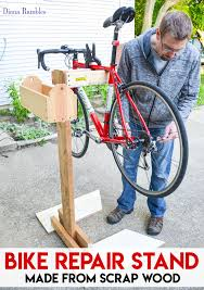 make your own bicycle repair stand bike tutorial learn how to make a bicycle repair