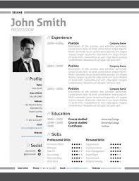 Modern Resume Formatg Modern Resume Template Trendy Resumes