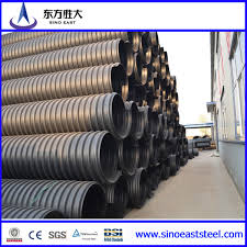 china hdpe double wall corrugated perforated plastic drainage pipe with high quality china hdpe pipe drainage