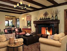living room interior design with fireplace. View In Gallery Fireplace Is At The Heart Of This Gorgeous Rustic Living Room [From: Cherie Cordellos Interior Design With T