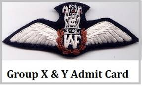 Image result for Indian Air Force X & Y Admit Card