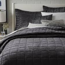 Washed Cotton Luster Velvet Quilt + Shams | west elm & Washed Cotton Luster Velvet Quilt + Shams Adamdwight.com