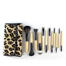 2017 professional makeup kits 12 pcs brush cosmetic make up set tools with leopard bag