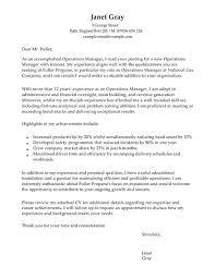 Cover Letter Head Of Operations Adriangatton Com