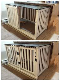 pet crate furniture. Furniture Style Dog Crate Old Crib Converted To Spacious Project Success Rustic Diy Cover C . Handcrafted Kennel And Pet