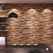 HaokHome Vintage Faux Stone Brick Wallpaper Rolls Tan/Sand/Grey 3D  Realistic Paper Murals Home Bedroom Living Wall Decoration-in Wallpapers  from Home ...