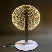 3d Effect Led Desk Lamp Wood Support Acrylic Lampshade Led Light Living Room Bedroom Reading Lamp With Usb Plug